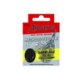 Albatros Method Feeder Rigs barbless 10 cm haak 10 op 0,22 mm