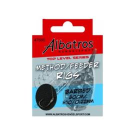 Albatros Method Feeder Rigs 60 cm haak 10 op 0,22 mm
