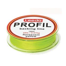 Leeda Profil Backing fluo yellow 20 lbs 100 mtr.