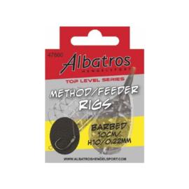 Albatros Method Feeder Rigs 10 cm haak 10 op 0,22 mm