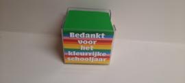 Memoblokje 'bedankt voor het kleurrijke schooljaar'