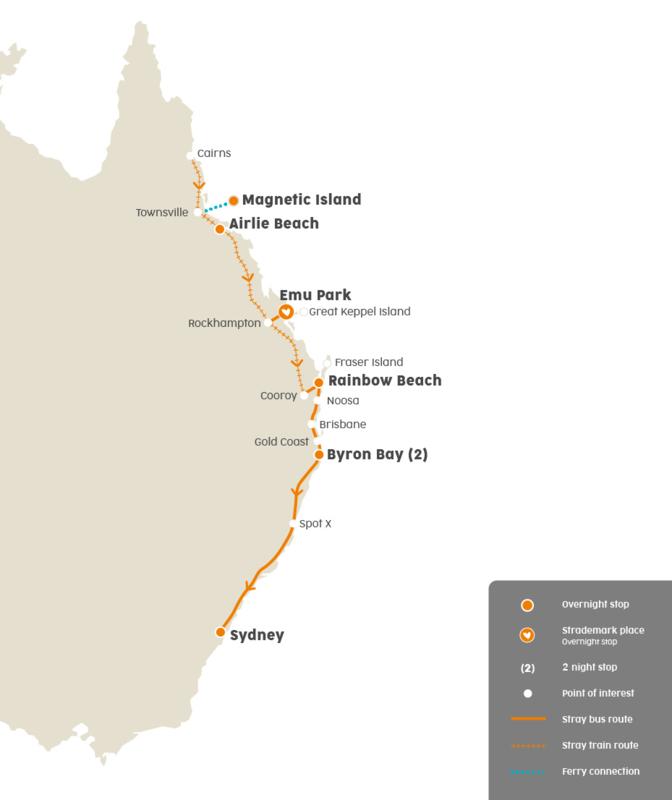 Stray Australia Cairns - Sydney incl. Tours