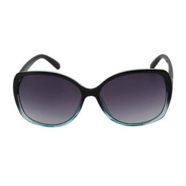 Stylish zonnebril degradé. Zwart - Zeegroen.