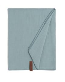 Knit Factory. Grote álleskunner Liv. Pareo/sjaal/laken. Oud Blauw (stone green)