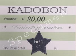 Kadobon 20,00
