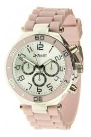 Horloge Ernest, Oud-lichtroze-Silver.