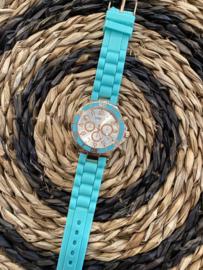 Horloge Ernest, Aqua groen-Rosé