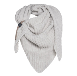 Sjaal/omslagdoek Demy van het mooie merk Knit Factory. Beige / wolwit