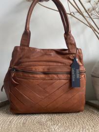 Bag 2 Bag medium - grote tas, model Santorini, 2 kleuren , écht leer.  Limited Edition.