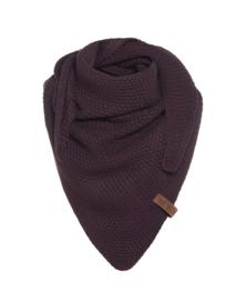 Sjaal/omslagdoek KIDS MAAT van het mooie merk Knit Factory.  Aubergine.