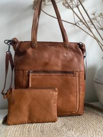 Bag 2 Bag grote tas, model Palau, 2 kleuren , écht leer.  Limited Edition.