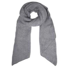 Langwerpige  super soft sjaal. Uni grijs.