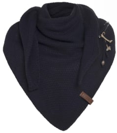 Sjaal/omslagdoek Coco van het mooie merk Knit Factory. Dark navy.