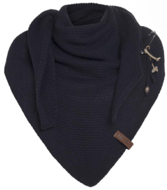 Sjaal/omslagdoek van het mooie merk Knit Factory. Dark navy.