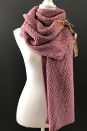 Sjaal  Luna, van het mooie merk Knit Factory. Lila (donker oud roze)