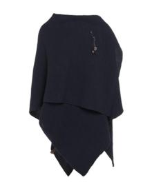 Super grote omslagdoek Jazz van het mooie merk Knit Factory. Navy