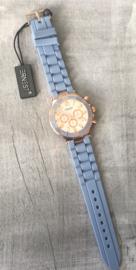 Horloge Ernest, lavendel blauw-Rosé.