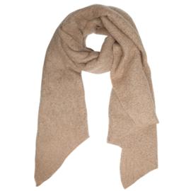 Langwerpige  super soft sjaal. Uni camel.