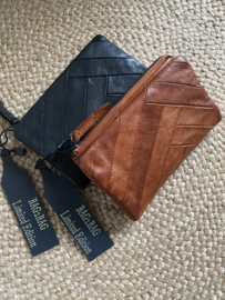 Bag 2 Bag medium portemonnee, model Paros , écht leer. 2 kleuren. Limited Edition.
