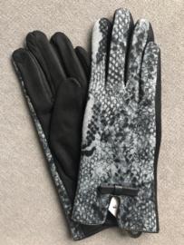 Handschoenen, Zwart / snake.