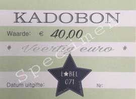 Kadobon 40,00