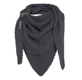 Sjaal/omslagdoek Demy van het mooie merk Knit Factory. Antraciet grijs
