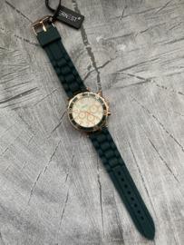Horloge Ernest, Donker Groen-Rosé.