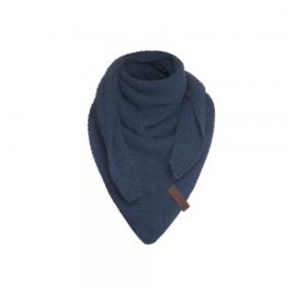 Sjaal/omslagdoek KIDS MAAT van het mooie merk Knit Factory.  Jeans-navy.