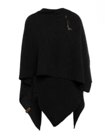Super grote omslagdoek Jazz van het mooie merk Knit Factory. Zwart.
