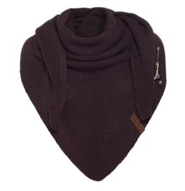 Sjaal/omslagdoek Coco van het mooie merk Knit Factory. Aubergine