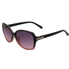 Stylish zonnebril degradé. Zwart - donker zalm montuur, aubergine kleurige glazenm