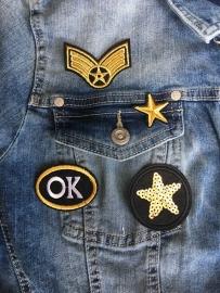 Opstrijkbare Patches-emblemen, GOLD.