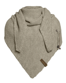 Sjaal/omslagdoek van het mooie merk Knit Factory. Licht Olijf