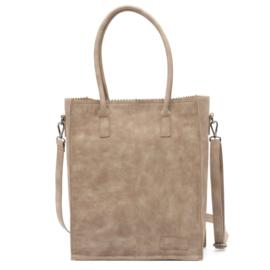 Kartel bag - tas  van ZEBRA. Suedine, gevoerd. Beige / Zand / licht bruin