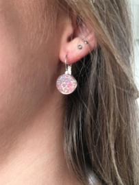 Oorbellen Glitter, roze