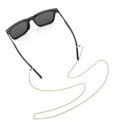 Rvs zonnebril koord fijne gedraaide ketting. Zilverkleurig..