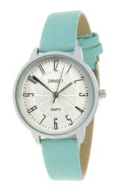 Horloge Ernest, Medium wijzerplaat. Aqua blauw - zilver.
