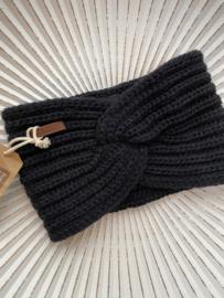 Knit Factory, gebreide haarband. Navy