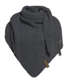 Sjaal/omslagdoek Coco van hetmooie merk Knit Factory. Antraciet grijs.