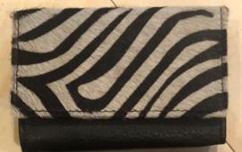 Bear design mini portemonnee. Écht leer/vacht. Zebra dessin.