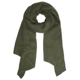 Langwerpige  super soft sjaal. Uni donker army green.