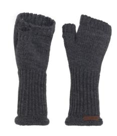 Knit Factory, gebreide handwarmers / wanten zonder vingers. Antraciet grijs.