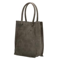 Kartel bag - tas. Hoog model, van ZEBRA. Suedine, gevoerd.  Army Green.