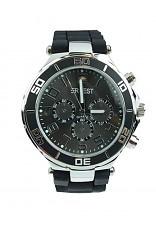 Horloge Ernest, Black-Silver zwarte plaat.