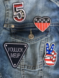 Opstrijkbare Patches-emblemen, AMERICAN SPORTS.