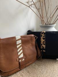 Bag 2 Bag medium grote tas met vacht, model Murcia , 2 kleuren, écht leer. Limited Edition.