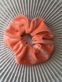 Scrunchie fluweel. Neon oranje