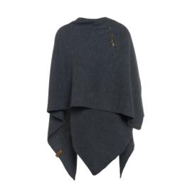 Super grote omslagdoek van het mooie merk Knit Factory.  Antraciet grijs.