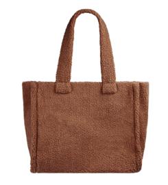 Teddy tas, medium-large maat tas. Bruin.