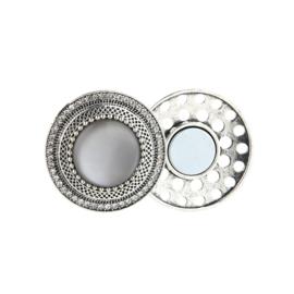 Sjaal magneet, grijs / zilver glans.